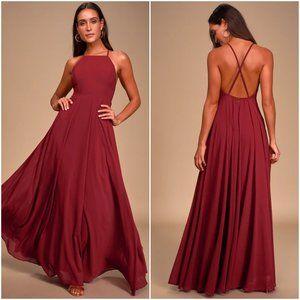 NWT Lulu's Mythical Kind of Love Maxi Dress